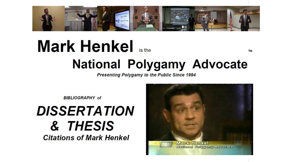 Bibliography of Dissertation and Thesis Citations of Mark Henkel